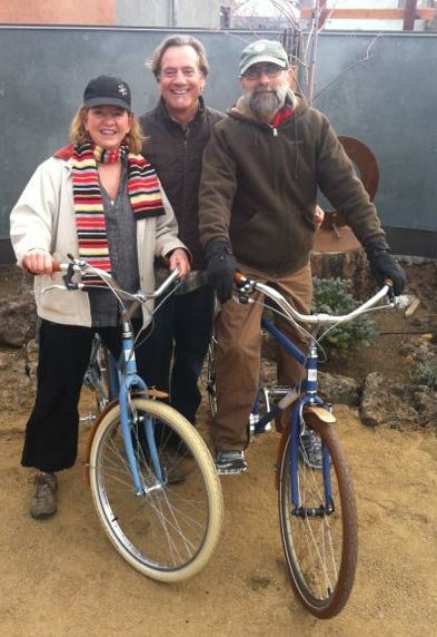 Barb and Tom with their new Upcycled Bikes