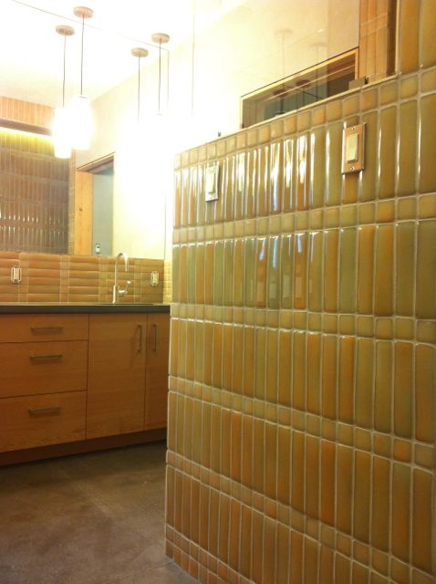 Bathroom Tiles from Recycled Solar Panels